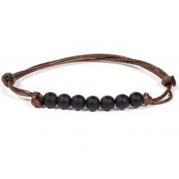 Bracelet 7 perles de Shungite pierre naturelle