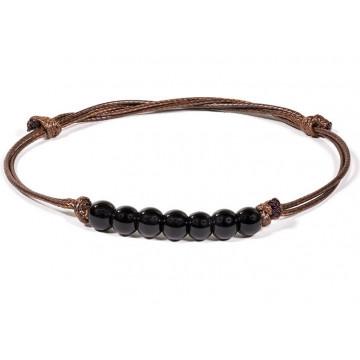 Bracelet 7 perles de Tourmaline pierre naturelle