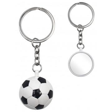 Porte clés Ballon de Foot noir et blanc porte-clé métal