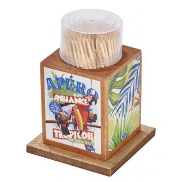 Boîte à Cure dents TROPICOLE Natives déco rétro vintage