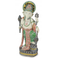 Statuette GANESH debout 55 cm résine effet bois