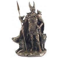 Statuette ODIN dieu nordique 25 cm effet bronze