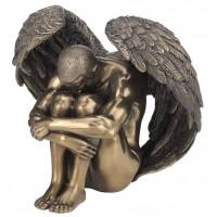 Statuette ANGE homme nu 13 cm effet bronze