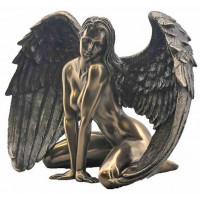 Statuette ANGE femme nue 12 cm effet bronze