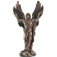 Statuette ARCHANGE MÉTATRON 37 cm effet bronze