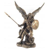 Statuette ARCHANGE RAPHAEL 24 cm effet bronze