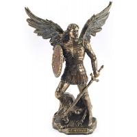 Statuette ARCHANGE SAINT MICHEL 24 cm effet bronze