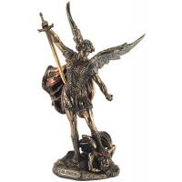 Statuette ARCHANGE SAINT MICHEL 28 cm effet bronze