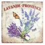 Plaque métal LAVANDE de PROVENCE PAPILLON ORANGE 30 x 30 cm déco rétro vintage