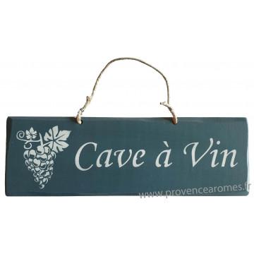 plaque en bois cave vin bleu canard provence. Black Bedroom Furniture Sets. Home Design Ideas