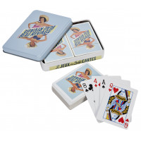 Boîte de 2 jeux de cartes BEAU RIVAGE Natives déco rétro vintage