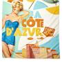Drap de plage CÔTE D'AZUR Natives déco rétro vintage