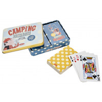 Boîte de 2 jeux de cartes CAMPING PAS UN RADIS Natives déco rétro vintage