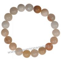 Bracelet en Pierre de Lune pierre naturelle perles rondes 10 mm