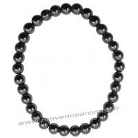 Bracelet en Hématite naturelle perles rondes 6 mm