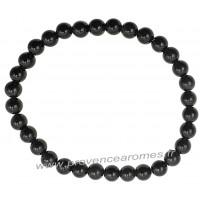 Bracelet en Obsidienne Œil Céleste naturelle perles rondes 6 mm