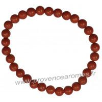 Bracelet en Jaspe Rouge naturelle perles rondes 6 mm