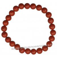 Bracelet en Jaspe Rouge naturelle perles rondes 8 mm