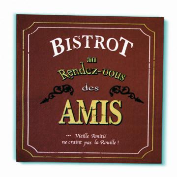 """Serviettes papier déco """" Bistrot Au Rendez-vous des Amis"""""""