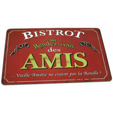 """Set de table """" Bistrot des amis """" Natives déco rétro et vintage"""