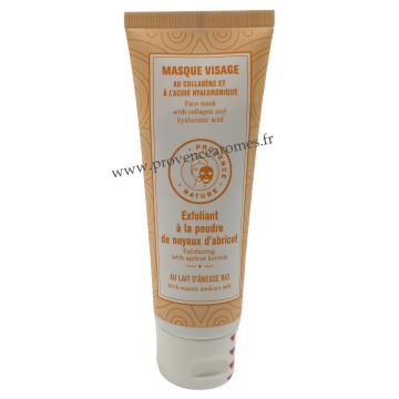 Masque Visage Exfoliant à la poudre de noyaux d'abricot et lait d'ânesse BIO