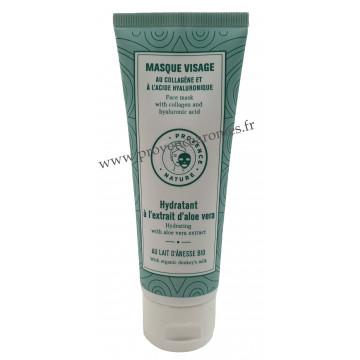 Masque Visage Hydratant à l'extrait d'aloé véra et lait d'ânesse BIO