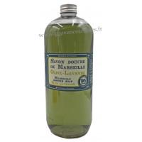 Savon douche de Marseille Olive Lavande 1 litre