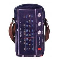 Pochette à bandoulière déco radio rétro pour téléphone portable