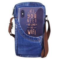 Pochette à bandoulière All You Need is Love an Wifi pour téléphone portable