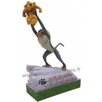RAFIKI et BÉBÉ SIMBA Figurine Collection Disney Tradition