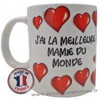 Mug J'AI LA MEILLEURE MAMIE DU MONDE collection Mugs petits messages