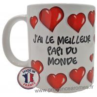 Mug J'AI LE MEILLEUR PAPI DU MONDE collection Mugs petits messages