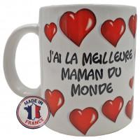 Mug J'AI LA MEILLEURE MAMAN DU MONDE collection Mugs petits messages