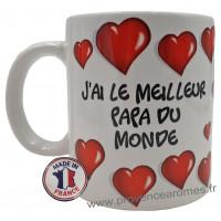 Mug J'AI LE MEILLEUR PAPA DU MONDE collection Mugs petits messages