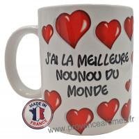 Mug J'AI LA MEILLEURE NOUNOU DU MONDE collection Mugs petits messages