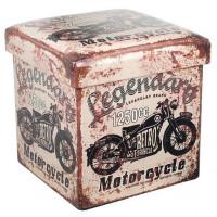 Pouf / coffre de rangement déco Legendary Motorcycle rétro rétro vintage