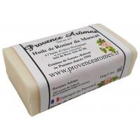 Savon Rosier de muscat, Bois de Rose, bois de Hô et huile d'olive Bio de Provence Arômes