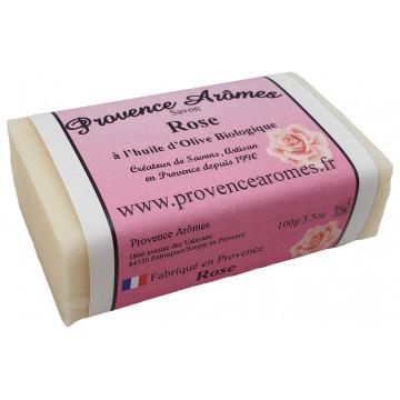 Savon ROSE à l'huile d'olive Bio de Provence Arômes