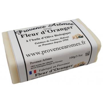 Savon Fleur d'Oranger à l'huile d'olive Bio de Provence Arômes