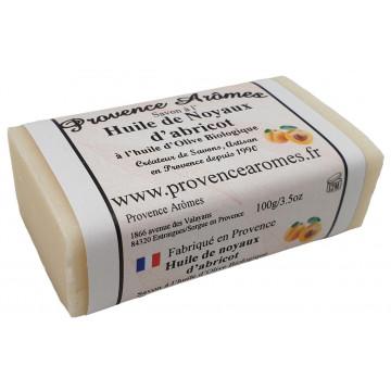 Savon à l'huile de Noyaux d'abricot et huile d'Olive Bio de Provence Arômes