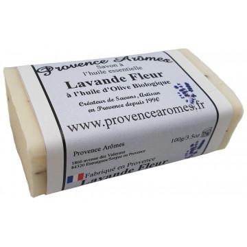 Savon huile essentielle Fleurs de lavande huile d'olive Bio de Provence Arômes