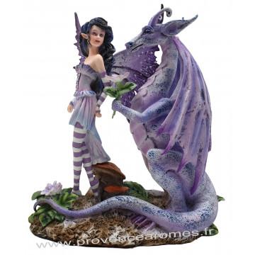 Figurine La fée et le dragon 20,5 cm
