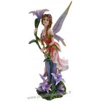 Figurine La fée et les Fleurs de Lys 26,5 cm