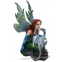Figurine La fée et le dragon 37 cm