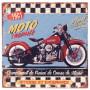 Plaque métal MOTO TROPHÉE 30 x 30 cm déco rétro vintage