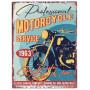 Plaque métal Professional MOTORCYCLE SERVICE 33 x 25 cm déco rétro vintage