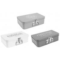 3 Boîtes valisettes métal Comptoir de Famille