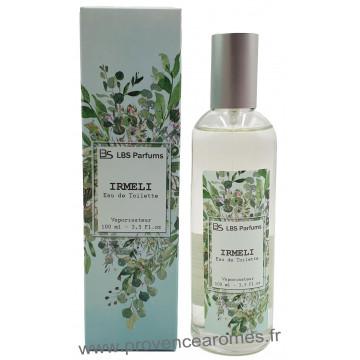 Eau de Toilette IRMELI douceur d'agrume fraîcheur verveine LBS Parfum