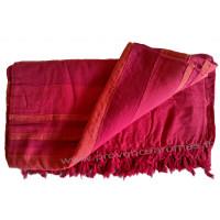 Grande Tenture Kérala Plaid couvre-lit 3 tons de rouges