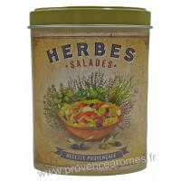 Herbes Salade de Provence Boîte saupoudreur déco rétro Esprit Provence